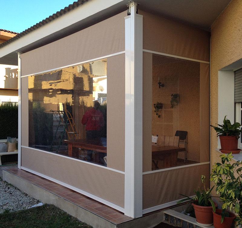 Tel n con ventana toldos el pilar for Toldos transparentes